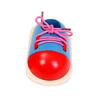 Деревянная игрушка Ботинок, развивающие товары для детей.