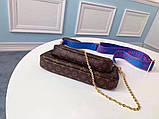 Сумка, клатч Луи Витон Monogram Multi-Pochette, кожаная реплика, фото 2