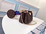 Сумка, клатч Луи Витон Monogram Multi-Pochette, кожаная реплика, фото 3
