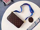 Сумка, клатч Луї Вітон Monogram Multi-Pochette, шкіряна репліка, фото 4