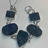 Браслет апатит. Браслет с натуральным камнем апатит Индия в серебре браслет с апатитом., фото 3