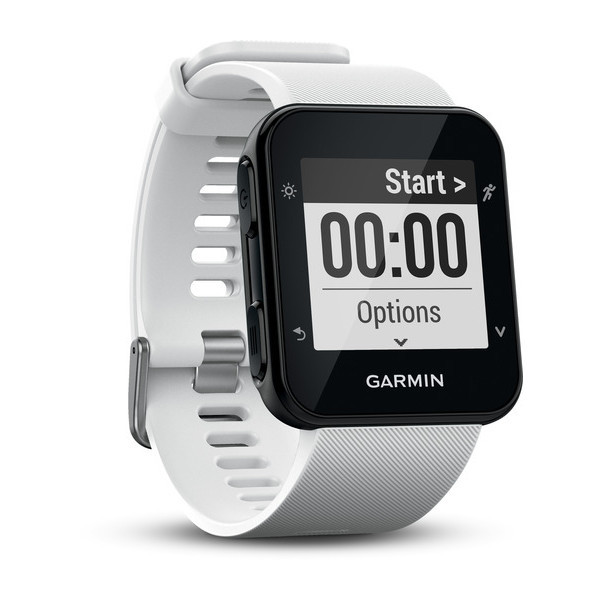 Смарт-годинник Garmin Forerunner 35 White Чорні з білим ремінцем