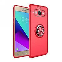 Чехол TPU Ring для Samsung Galaxy J52016/ J510 бампер с кольцом Red