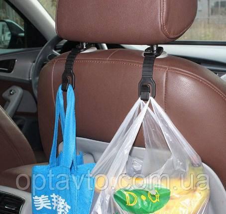 Крючки для пакетов, сумок, одежды в автомобиль универсальные