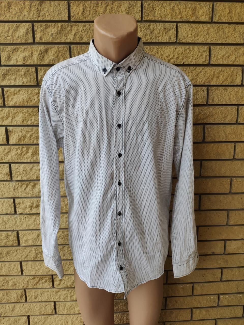 Рубашка мужская коттоновая брендовая высокого качества BOSETTI, Турция