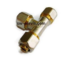 Трійник для металопластикової труби 16*16*16 гросс