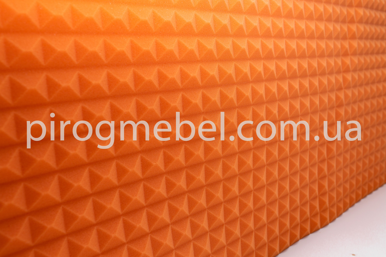 """Акустическая панель """"пирамида """"1,950м* 0.95м , 20 мм оранж"""