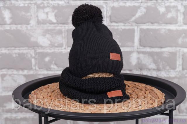 шапка со снудом манишкой