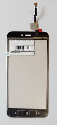 Сенсор (тачскрін) для Xiaomi Redmi 5A золотого, фото 2