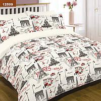 Комплект постельного белья Ранфорс 12599 - Полуторный