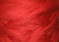 Шерсть для валяния австралийский меринос 23 микрон (10 грамм = 25 см) - огненно-красная. Фелтинг. Вовна