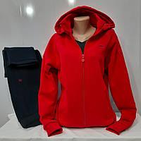 Тёплый женский спортивный костюм Fore, тринить, Турция, красный, большой размер.