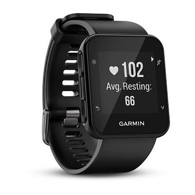Смарт-годинник Garmin Forerunner 35 Black Чорні з чорним ремінцем