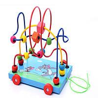 Деревянная игрушка Каталка-лабиринт «Том и Джери», развивающие товары для детей.
