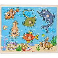 Деревянная игрушка Аква-животные, развивающие товары для детей.