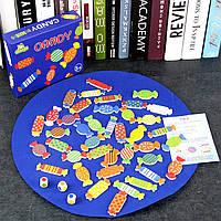 Деревянная игрушка Настольная игра «Конфетки», развивающие товары для детей.