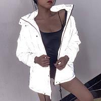 Зимняя куртка женская светоотражающая стильная