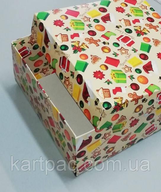 """Коробочка для подарунків картонна """"Ялинка"""" 195*195*97"""