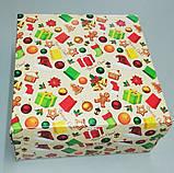 """Коробочка для подарунків картонна """"Ялинка"""" 195*195*97, фото 3"""