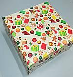"""Коробочка для подарунків картонна """"Ялинка"""" 195*195*97, фото 4"""