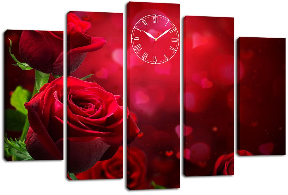 Настенные часы-картина на холсте Декор Карпаты 80x120 см (chf1)