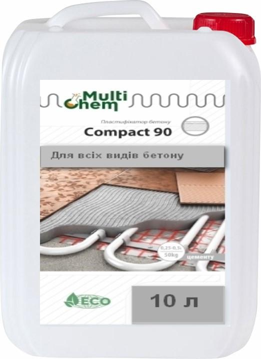 MultiChem. СуперПластифікатор Compact-90Euro , 10 л. Пластификатор бетона и гипса., фото 1