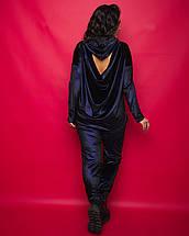 """Женский бархатный прогулочный костюм """"BARKHAT"""" с капюшоном (большие размеры), фото 2"""