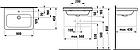 Раковина квадратная подвесная, накладная 60 см Jika Cubito 60, фото 5