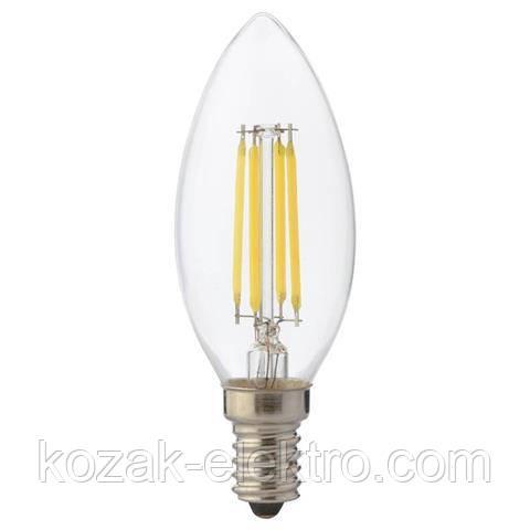 FILAMENT CANDLE 6Вт Е14 лампа светодиодная