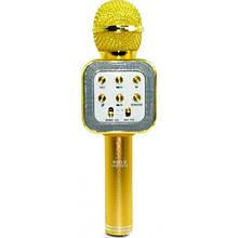 Беспроводной микрофон караоке Wster WS 1818, золотой