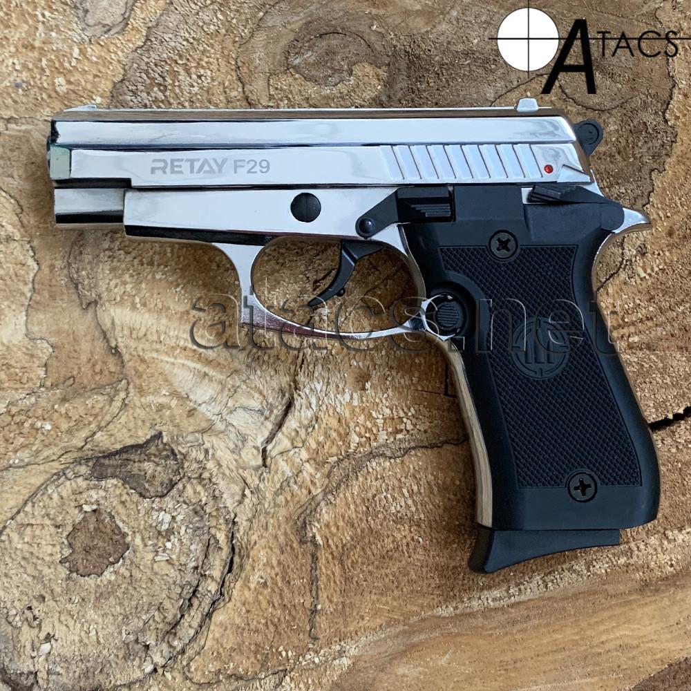 Пистолет стартовый Retay F29 NICKEL