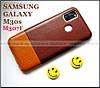 Коричневый чехол бампер для Samsung Galaxy M30s 2019 M307F в коже Elegant Pc brown