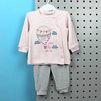 Детский костюм длинный рукав на девочку, материал велюр, возраст 9 м тм BONNE BABY Турция