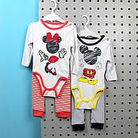 Детский набор бодик и штаны, материал интерлок, возраст 3м Турция