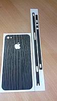 Декоративная защитная пленка на Iphone 4/4S - темное дерево