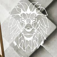 Настенный декор Лев (белый)
