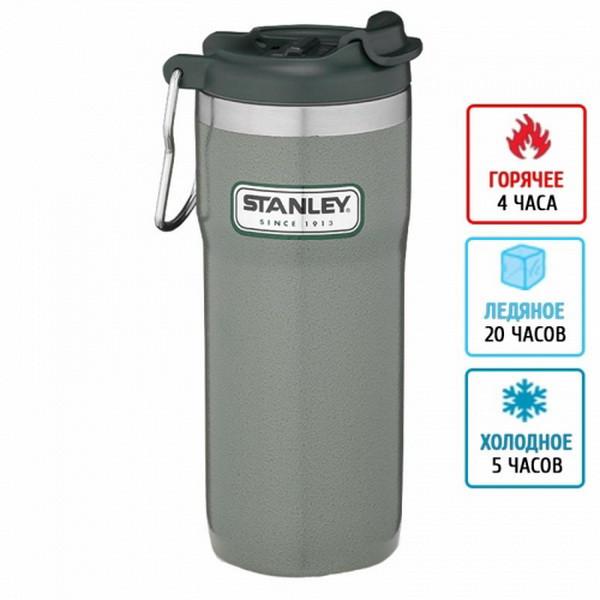 Термокружка для кофе Stanley Classic TwinLock (0,47л), зеленая