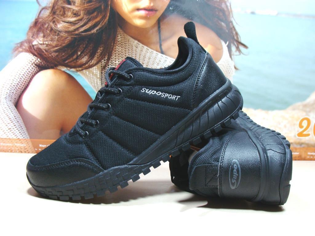 Термо кроссовки -Supo Waterproof черные 45 р.