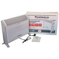Обогреватель электрический конвектор напольный 2000Вт GC-2000 (электроконвектор, электрообогреватель) GRUNHELM