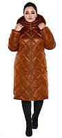 Воздуховик женский зимний с натуральной опушкой на капюшоне Braggart Angel's Fluff - 31046 сиена, фото 1