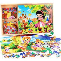 Деревянная игрушка Набор пазлов.Герои мультфильмов - 1, развивающие товары для детей.