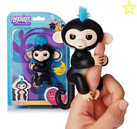 Супер игрушка Fingerlings Monkey Интерактивная обезьянка (черная)