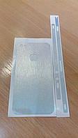 Декоративная защитная пленка на Iphone 4/4S - шлифованный алюминий