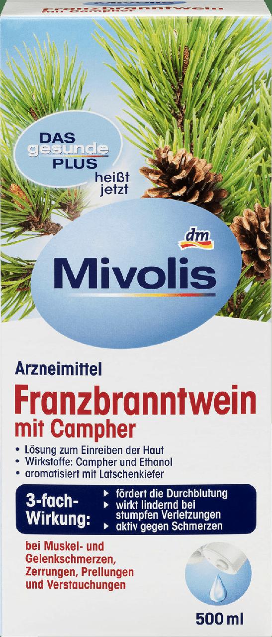 Травяная настойка для растирания Mivolis Franzbranntwein mit Campher, 500 ml