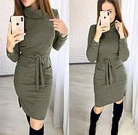 Стильное платье из ангоры с карманами 4 цвета
