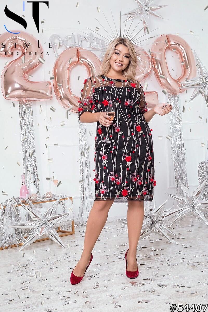 Супермодное платье с вышивкой