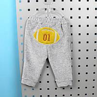 Детские штаны с аппликацией на мальчика материал велюр размер  60 тм BONNE BABY Турция
