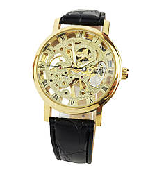 Механические часы Winner Skeleton Golden - гарантия 12 месяцев