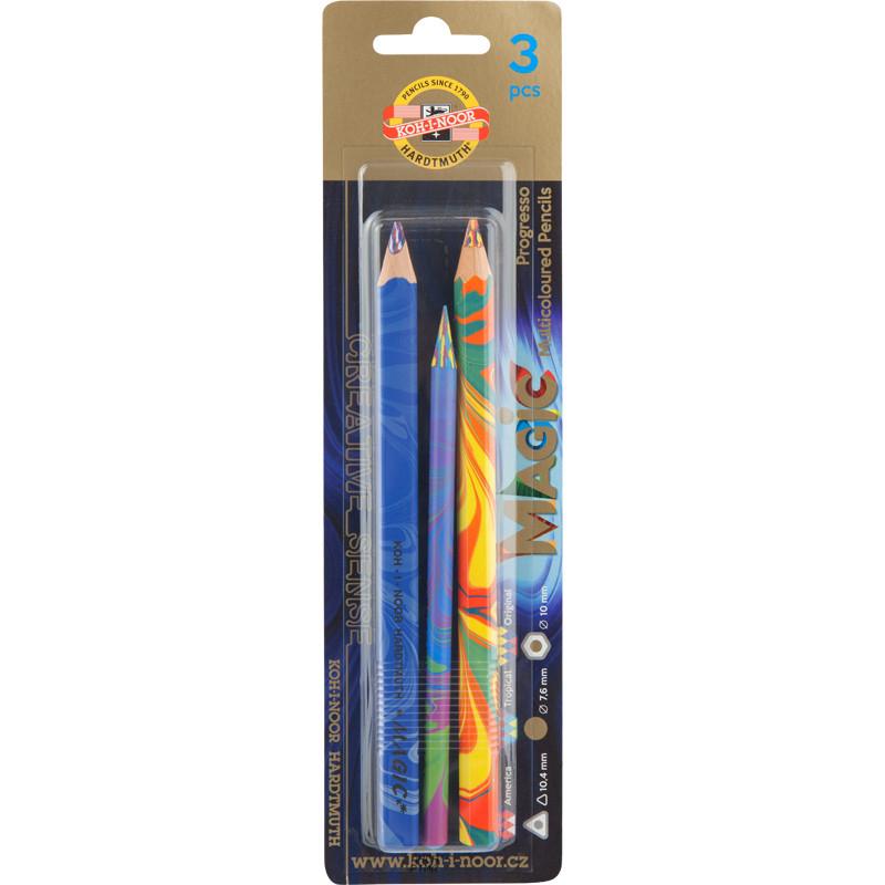 Карандаши цветные Koh-I-Noor Magic набор 3шт (9038)
