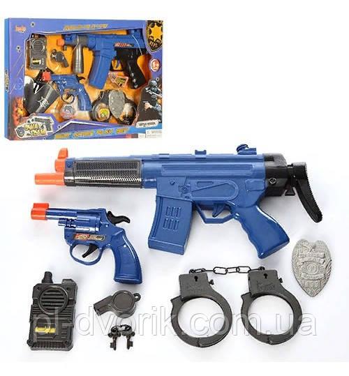 Набір Поліцейського 8626-8627 () Автомат,Зв,Св,Пістолет,Наруч, 2вид,На Бат-Ке,В Кор-Ке,45-30-4см